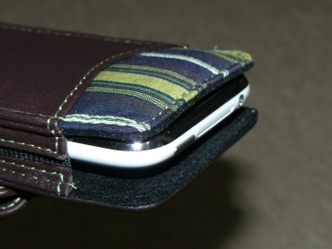 Das Blau The Slipper Leather Case for iPhone